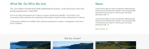 Scottish Land Commission  website